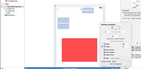 autolayout change height objective c how to set dynamic width height of a view