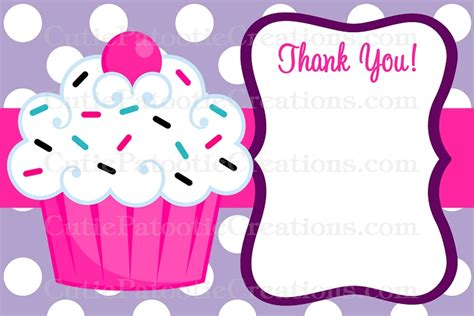 cupcake thank you card template pin baby birth certificate template view author on
