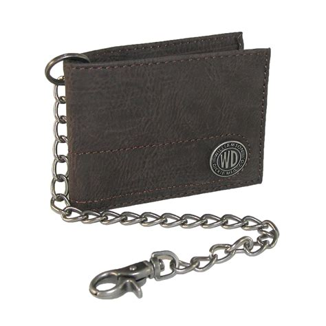 Chain Wallet by Mens Leather Slimfold Chain Wallet By Dickies Chain
