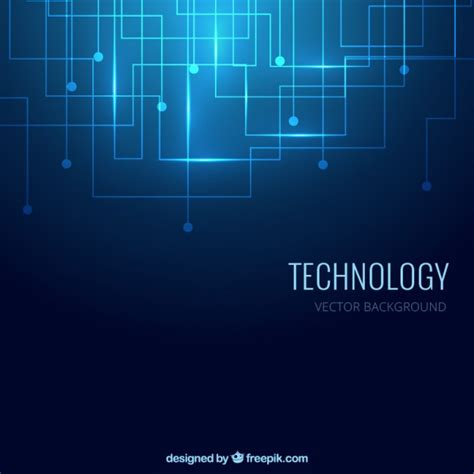 tech colors technology background in blue color vector free