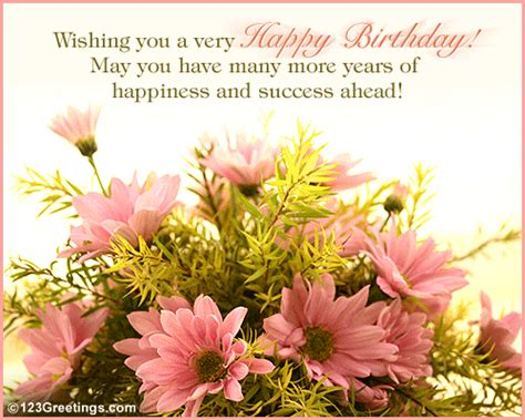 Attractive Happy Birthday Wishes A Beautiful Birthday Wish Free Boss Colleagues Ecards