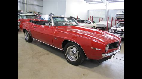classic muscle car for sale 1969 camaro convertible sold