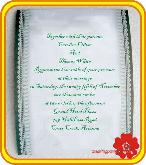Personal Wedding Invitation Wording For Friends India