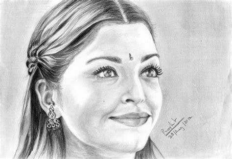 pencil sketch of actress aishwarya rai desipainters com