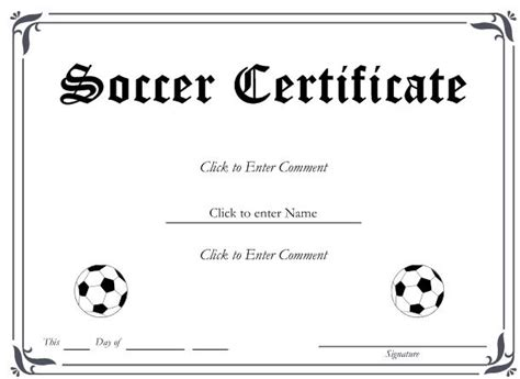 templates for soccer awards 6 best images of free printable soccer award certificates
