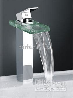 Discount Kitchen Sink Faucets by 2017 Classic Design Faucet Waterfall Square Glass Kitchen