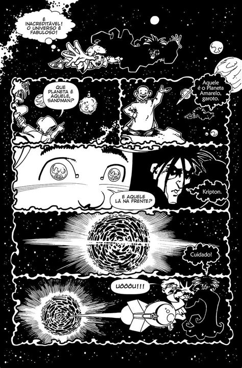 O desbravador do universo!, quadrinhos de Daniel Brandão