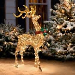 outdoor lighted reindeer decoration explore collections on ebay