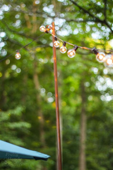 Outdoor String Light Pole Decorating Ideas For An Outdoor Garden Pretty Handy