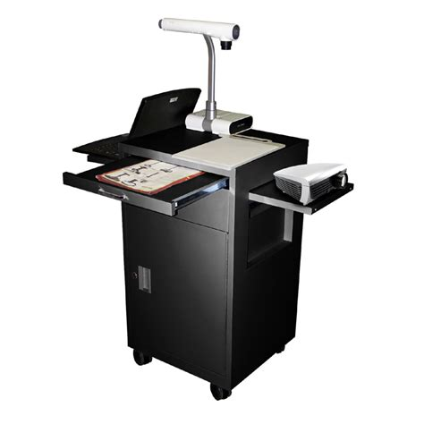 multimedia cart with locking cabinet luxor multimedia cart with locking cabinet and drawer and