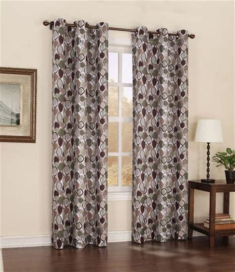 menards curtains s lichtenberg palmer grommet top printed drapery panel 48