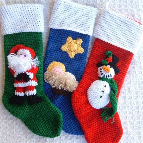 crochet pattern xmas stocking crochet christmas stockings crochet pinterest