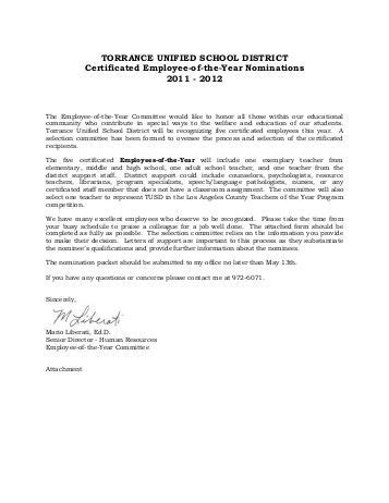 Recommendation Letter For Employee Of The Quarter exles employee of the year pictures to pin on