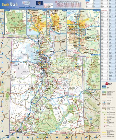 printable map utah utah state wall map by globe turner