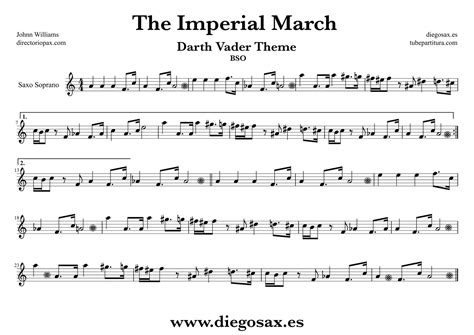 theme music sopranos diegosax la marcha imperial de john williams partitura