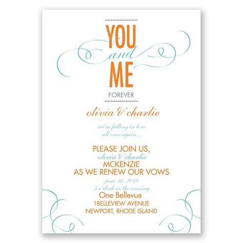 Wedding Vows Renewal by You And Me Vow Renewal Invitation Invitations By