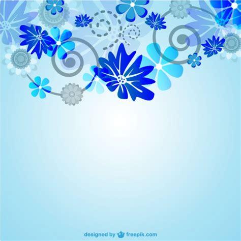 imagenes vectores azul gratis vector de fondo azul floral descargar vectores gratis