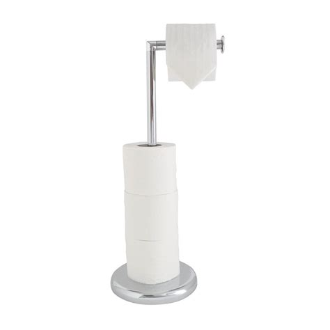 free standing toilet paper holder with storage chrome free standing swivel toilet loo paper roll holder