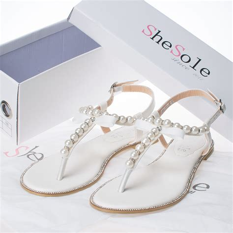 dressy flat sandals for wedding shesole womens bridal shoes dress flat