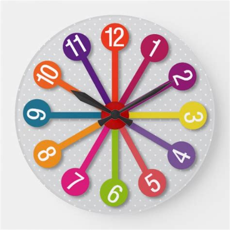 colorful wall clocks colorful circles wall clock zazzle