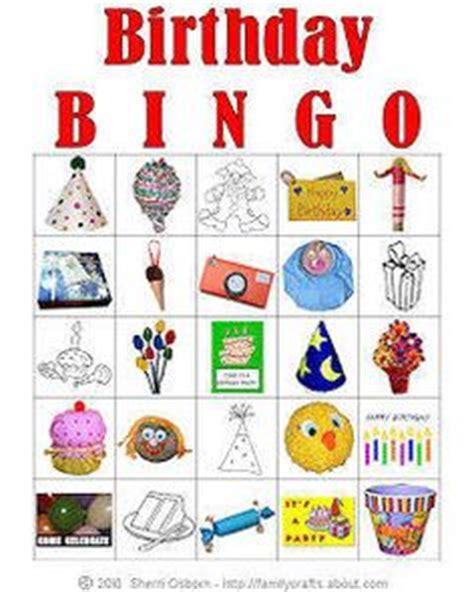 printable birthday bingo cards girl birthday bingo and birthdays on pinterest