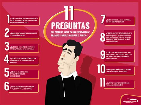 preguntas personales para una entrevista 11 preguntas que debes hacer en una entrevista de trabajo