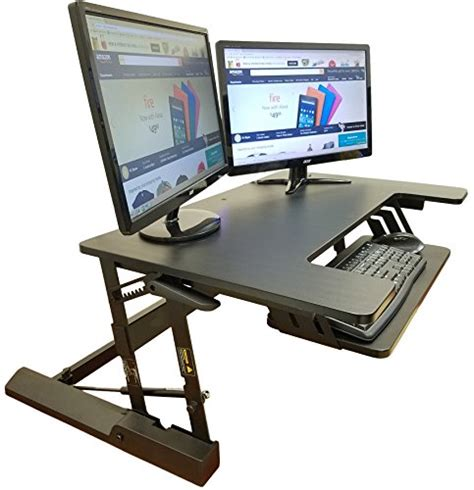 adjustable standing desk converter standing desk adjustable converter fits big monitors