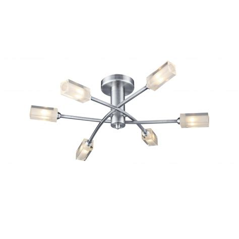 satin chrome ceiling light for low ceilings