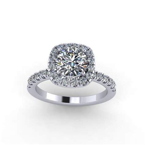 engagement ring moissanite center style 26wdm