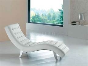 White Leather Chaise Lounge White Brown Beige Or Black Vinyl Modern Chaise Lounger