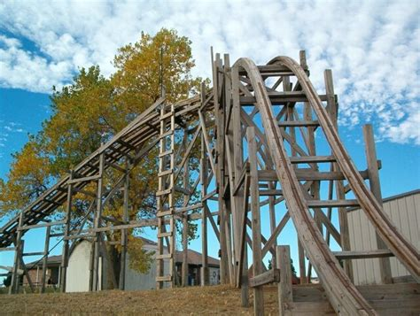 backyard wooden roller coaster r i c k e t y backyard roller coaster 171 outdoor games