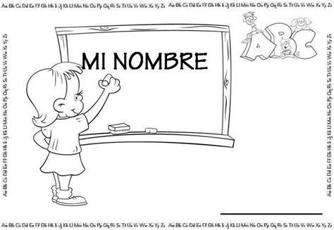 imagenes para colorear y escribir el nombre fichas para trabajar el nombre del alumno a