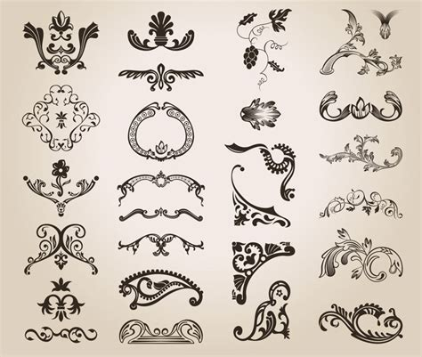 antique design elements 30 vector decorative vector graphics blog page 39