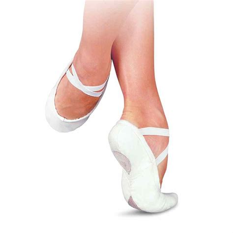 white ballet shoes sansha pro 1c canvas split sole ballet shoes white