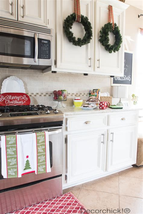 u kitchen designs home christmas decoration holiday kitchen home tour decorchick 174