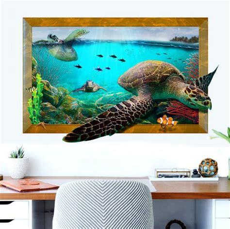 3d sea turtle livingroom bedroom animals floor home