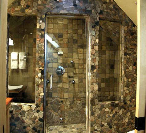stone bathroom showers stone design shower