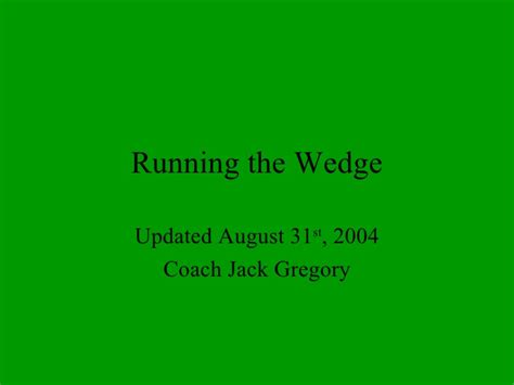 Sporty Wedgesseries 728 running the wedge updated