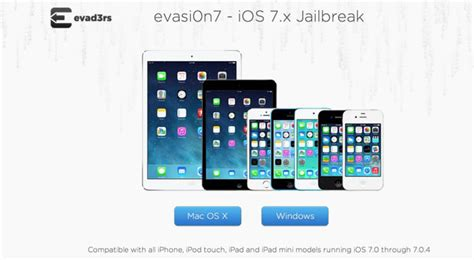 Jailbreak Mini how to untethered jailbreak the ios 7 on all iphone mini ipod touch