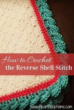 tutorial video reverse stunning and easy crochet border using reverse shells