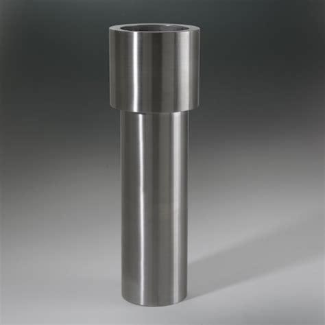 vasi in acciaio inox vaso cilinder inox designer