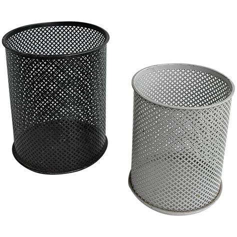 wastepaper basket mathieu mategot pair of metal wastepaper baskets at 1stdibs