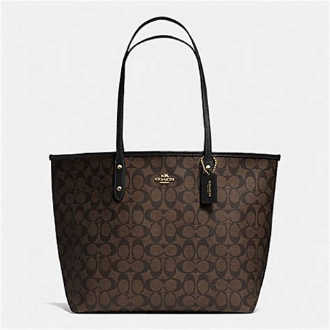 Coach City Tote Studded Black coach f36126 city tote in signature handbags coach anyhandbag