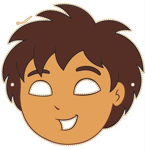 printable halloween masks kids birthday party ideas on pinterest go diego go