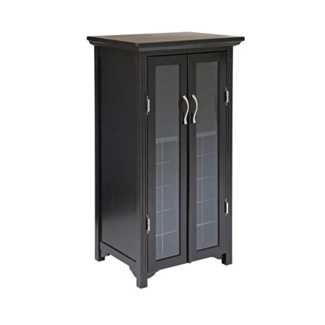 Wine Cabinet With Glass Door Winsome Wood Wine Cabinet With Glass Doors 92722