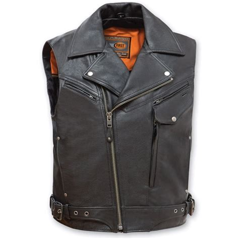 biker jacket vest leather biker jacket motorcycle vest reckless outlaw