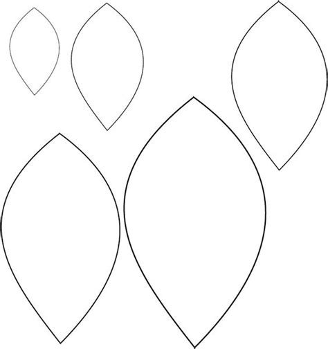 printable leaf template best ideas about paper leaf template flower templates