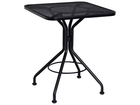 woodard wrought iron 24 square bistro table 280024