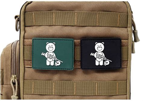 Patch Pacth Mp Patch Pvc Rubber Tactical Brevet Perekat Karet 2pcs soldier pvc rubber patches 3d hook and loop tactical patch armband army