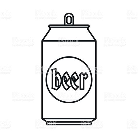 cartoon beer black and white beer can icon outline style stock vector art more images